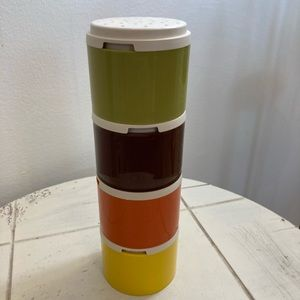 Tupperware Autumn Harvest stackable Spice Shakers